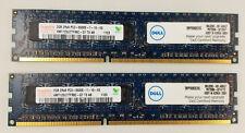 Hynix Dell 2x2GB PC3 (PC3-8500E) HMT125U7TFR8C - G7 - UNBUFFERED ECC 2RX8