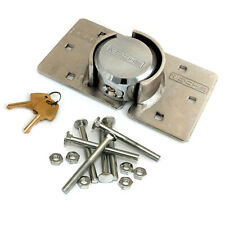 VOCHE® HIGH SECURITY 73mm PADLOCK + HASP SET VAN LOCK + BOLTS NUTS FIXING KIT