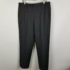 Zanella Nordstrom Todd Flat Front Charcoal Gray Mens Dress Pants Size 36x30