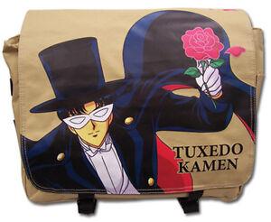 **Legit Bag** Sailor Moon Tuxedo Kamen Fabric Messenger Backpack #81104