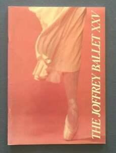 JOFFREY BALLET XXV Souvenir Book ~ Program 1981 ~ celebrating 25 years