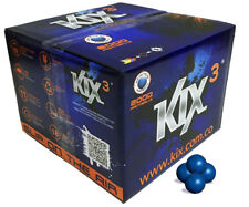 Kix Paintballs Case of 2000 Rounds - Pearl Blue with Yellow Fill