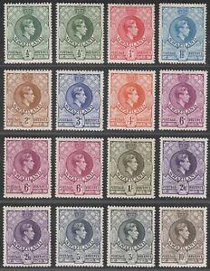 Swaziland 1938-54 King George VI Set p13½x14 Mint SG28a-38a cat £95+