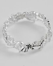 ICON COASTAL Silver DOLPHIN Crab SEAHORSE Starfish Stretch Sea Life Bracelet NWT
