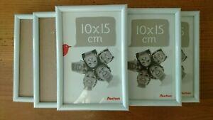 Lot de 6 petites cadres blancs 10x15 cm