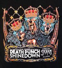 Five Finger Death Punch 2016 concert tour t-shirt Shinedown Sixx:A.M. men's M