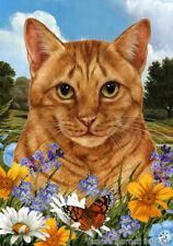 New listing Summer House Flag - Orange Tabby Cat 18955