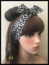 Animal Print Leopard Headband Hairband Bandana Fabric Bow Tie Hair Band Scarf