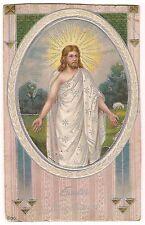 EASTER GREETINGS Image of Jesus Christ Religion Postcard Vintage 1918