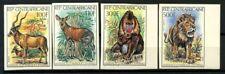 Repubblica Centrafricana 1982 Mi. 814-817 B Nuovo ** 100% Animali non dentellati