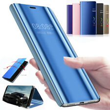 For Huawei Y6 Y5 Y9 Honor 10 2018 Luxury Smart Mirror View Flip Stand Case Cover