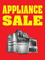"""APPLIANCE SALE 18""""x24"""" BUSINESS STORE RETAIL SIGNS"""