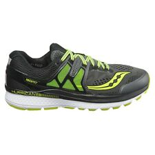 Mens New Saucony Hurricane Iso 3 Running Shoes Sz 10.5 Grey/Black/Citron