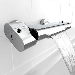 Badewannenarmatur mit Thermostat für Badewanne Wannenarmatur mit Schwallauslauf