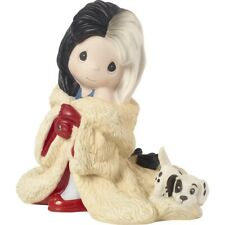 $ New Precious Moments Disney Porcelain Figurine 101 Dalmatians Cruella De Vil