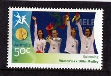 2006 Commonwealth Games 50c Swimming 4x100mt Women's Stamp Mint Never Hinged