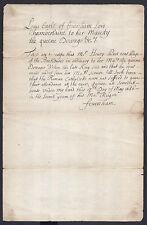Louis de Duras 2nd Earl Feversham Signed Document Rise of Anti-Catholicism 1686