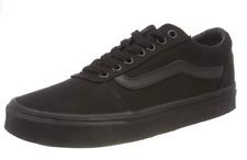 Vans Men's Ward Canvas Black/Black Low-Top Shoes Trainers Sneakers