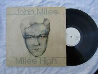 JOHN MILES LP MILES HIGH demo or test press / blank labels ..... 33rpm / rock