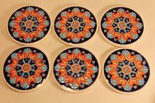 Smaltotechniki Coasters - Hand Made - Set of SIX - 6 - Greece - Ceramik  Vintage