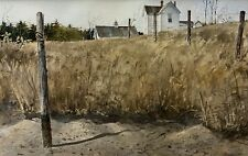 RICHARD SCHLECHT Original Signed LARGE Watercolor Andrew Wyeth Style LISTED