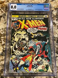 X-MEN #94 CGC 8.0 RARE WHITE PAGES UNPRESSED LOOKS NICER! HOT LIKE GIANT SIZE #1