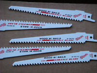 "Milwaukee 48-01-5035 6"" x 6TPI Bi-Metal Super Sawzall Blade 5-Pack Free Shipping"
