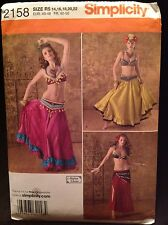 2158 Simplicity Sewing Pattern Misses Belly Dancer Costumes  Sz 14,16,18,20,22