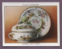 1755 Chelsea Porcelain Soup Tureen England 1930s Trade Ad Card