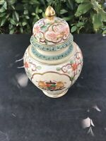 VINTAGE HANDMADE HAND PAINTED CHINESE TEMPLE JAR RARE UNIQUE CONTAINER