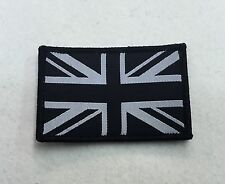 Union Jack Badge, Black & White, TRF, Military, Army, Sleeve, Patch, Hook & Loop