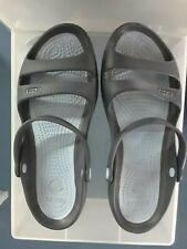 Crocs Size W9 light blue Cray brown mix ? Slides Womens Shoes