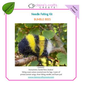 Bumble Bees Needle Felting Kit