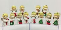 12 Vintage Porcelain Angel Ornament Figurines R.O.C. TAIWAN 1970's