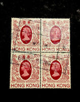 Hong Kong Stamps #403a Used Unwmk Block of 4 1985-87 cv$100