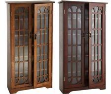 Large Media Case Movie Cabinet Living Room Cd Dvd Holder Book Shelf Furniture Oa