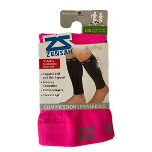 Zensah Compression Leg Sleeves Women's Pink L/XL New