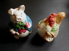 CHICKEN AND PIG NOVELTY SALT AND PEPPER POTS ( FF1987) (ref60)