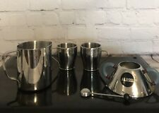 breville cafe roma Insulated Stainless Steel espresso Cups W/ Milk / Sugar