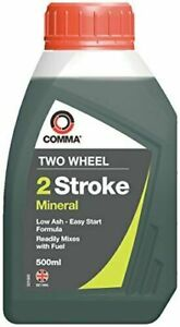 Two Stroke Mineral Oil 500 ml Readily Mixes with Fuel Comma TST500M