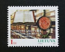 150th anniversary of state archives stamp, 2002, Lithuania, SG ref: 784, MNH