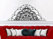 Half Mandala Flower Wall Decals Headboard Bedroom Vinyl Sticker Boho Decor NV78