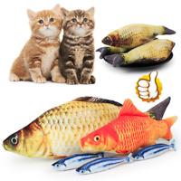 Funny Pet Kitten Cat Fish Shape Mint Grass Chewing Play Catnip Scratch Toy