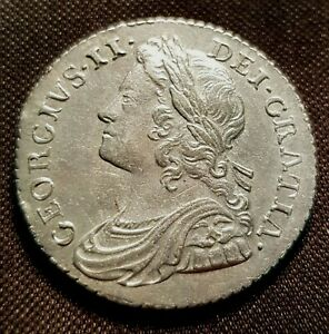 Excellent 1737 George II Shilling. We grade extremely fine Spink 3700