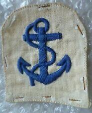 VINTAGE Royal Navy Leading Seaman Rank Cloth Badge Embroidery 75 mm Used*