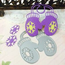 Christmas Gloves Cutting Dies Stencil DIY Scrapbook Embossing Paper Card Decor