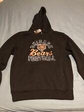 Majestic Chicago Bears Black Big Logo Pullover Hoodie Jacket Men's Size Large