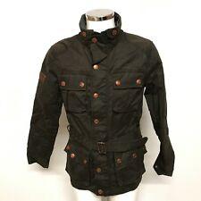 Superdry Men's Trials Race Jacket Size UK S Black Copper Endurance Wax 253220