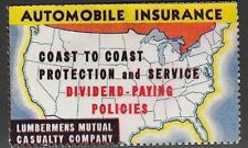 USA Poster stamp: 1930 Lumbermans Mutual Casualty Co. Auto Insurance - dw904.6
