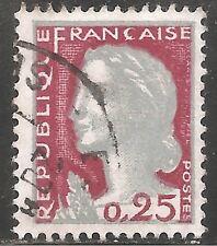 France Stamp - Scott #968/A349 25c Lake & Gray Canc/LH 1960